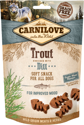 Semi-Moist Trout enriched with Dill GRAIN FREE – EXOTIC MEAT FLAVOUR – NO ARTIFICIAL COLORANTS