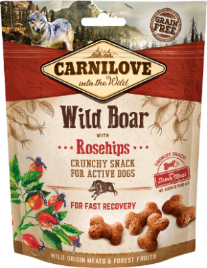 Crunchy Wild Boar with Rosehips GRAIN FREE – FRESH MEAT – NO ADDED SUGAR