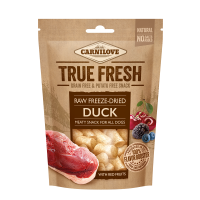 True Fresh Freeze-Dried snack DUCK with 5 red fruits