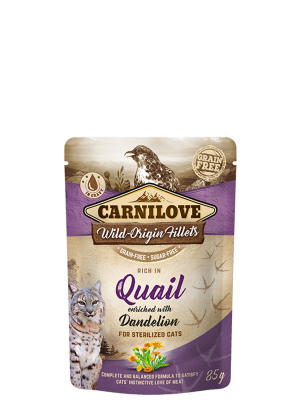 Rich in Quail enriched with Dandelion